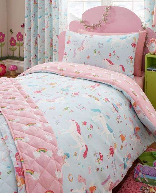 Peuter junior dekbedovertrek magische eenhoorn blije kids - Mooi slaapkamer meisje ...
