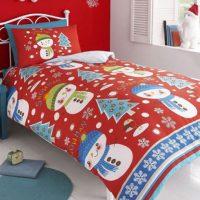 eenpersoons-dekbedovertrek-peuterovertrek-peuterdekbedovertrek-ledikantovertrek-ledikantdekbedovertrek-flanel-slaapkamer-slapen-babykamer-kinderkamer-goedkoop-sneeuwpoppen-sneeuwmannen-poppetjes-manne