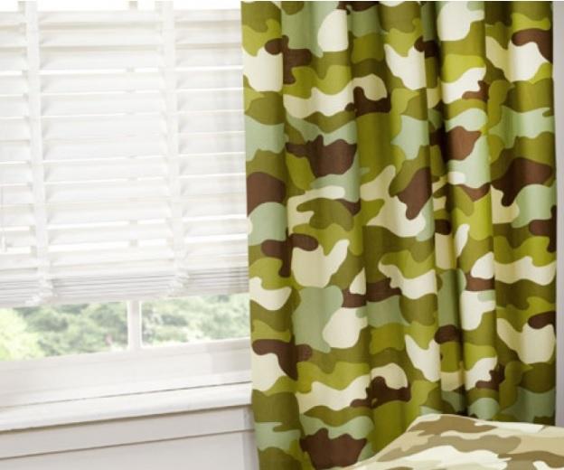 gordijnen camouflage